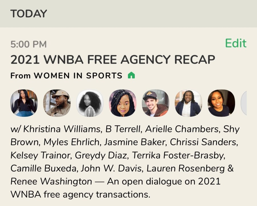 WNBA Clubhouse chat is a great WNBA media podcast to listen to