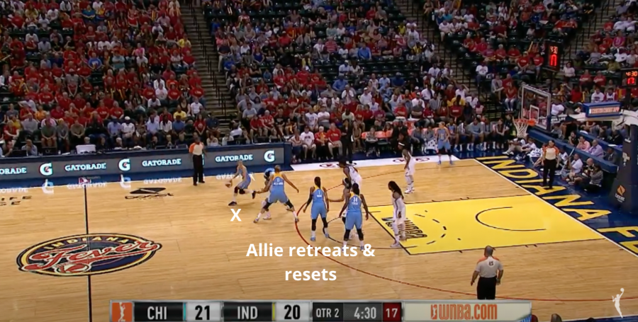 Allie Quigley retreats and resets
