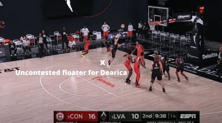 Dearica Hamby WNBA player hits an uncontested floater
