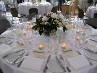 Luxury wedding at Catalina lit with bee created light ...