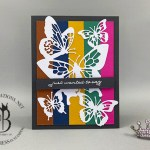 stampin up butterfly beauty 2020-2022 in color happy birthday card by Lisa Ann Bernard of Queen B Creations