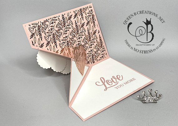 Stampin' Up! Forever and Always Specialty DSP Angle Corner Fold card by Lisa Ann Bernard of Queen B Creations