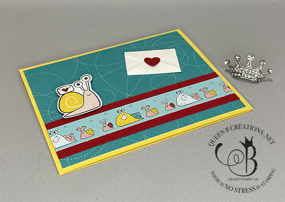 Stampin' Up! Snailed It Snail Mail Card by Lisa Ann Bernard of Queen B Creations