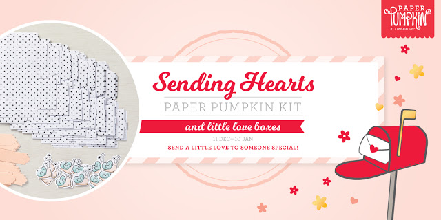 Stampin' Up! Sending Hearts January 2021 Paper Pumpkin alternatives & stamp case insert by Lisa Ann Bernard of Queen B Creations