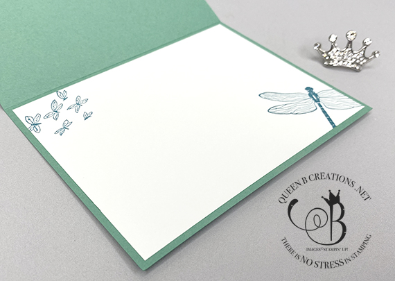 Stampin' Up! Dragonfly Garden Forever Greenery handmade card by Lisa Ann Bernard of Queen B Creations