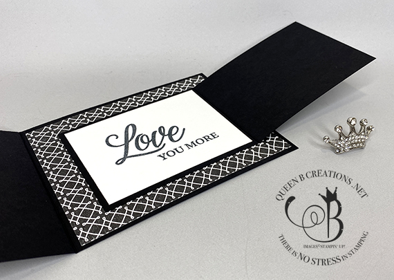 Stampin' Up! Forever & Always True Love joy fold card by Lisa Ann Bernard of Queen B Creations