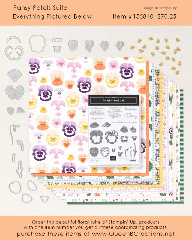 Stampin' Up! Pansy Petals Suite Collection buy online from Lisa Ann Bernard of Queen B Creations
