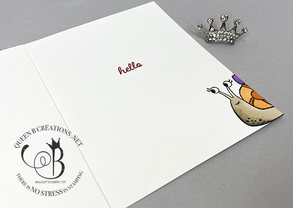 Stampin' Up! Basic Borders Dies rainbow Snailed It handmade card by Lisa Ann Bernard of Queen B Creations