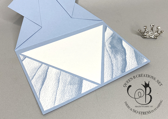 Stampin' Up! Friends Are Like Seashells arrow fun fold card by Lisa Ann Bernard of Queen B Creations