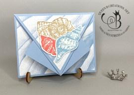 Seashells Arrow Fold Card