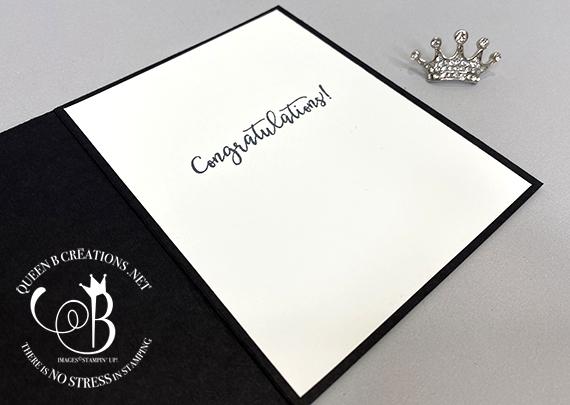 Stampin' Up! Suit and Tie Dies Tuxedo handmade Congratulations card by Lisa Ann Bernard of Queen B Creations
