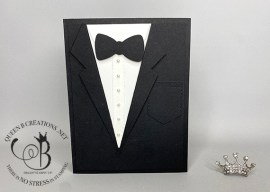 Suit & Tie Dies Tuxedo Card