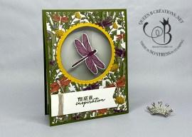 Dragonfly Garden Swinging Pendulum Card