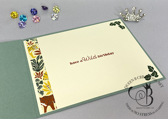 Stampin' Up! Wild Cats In The Wild Fierce Fun Fold Card by Lisa Ann Bernard of Queen B Creations
