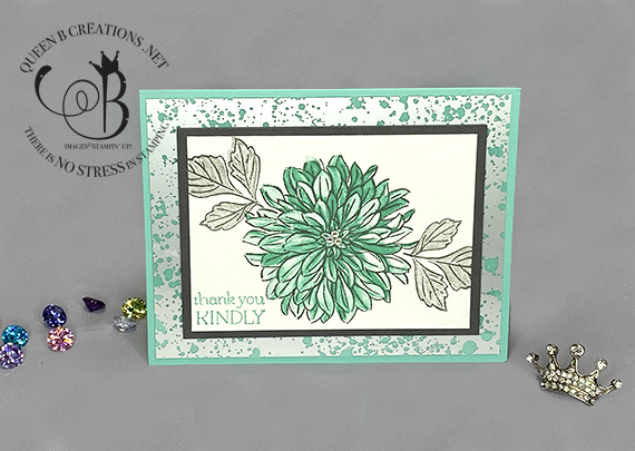Stampin' Up! Delicate Dahlia Thank You card by Lisa Ann Bernard of Queen B Creations