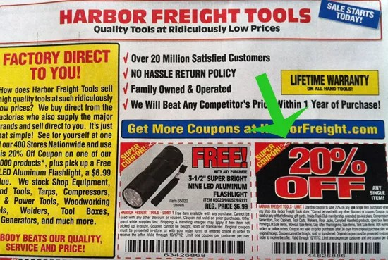 Harbor Freight 20 Coupon May 2019
