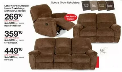 lake view by emerald home furnishings nicholas motion sofa top brand sofas fred meyer furniture sale great deals on couches bunk beds fm lakeview collection rocker recliner