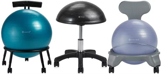 ball chair amazon best kneeling gold box save on balance chairs and stools from gaiam
