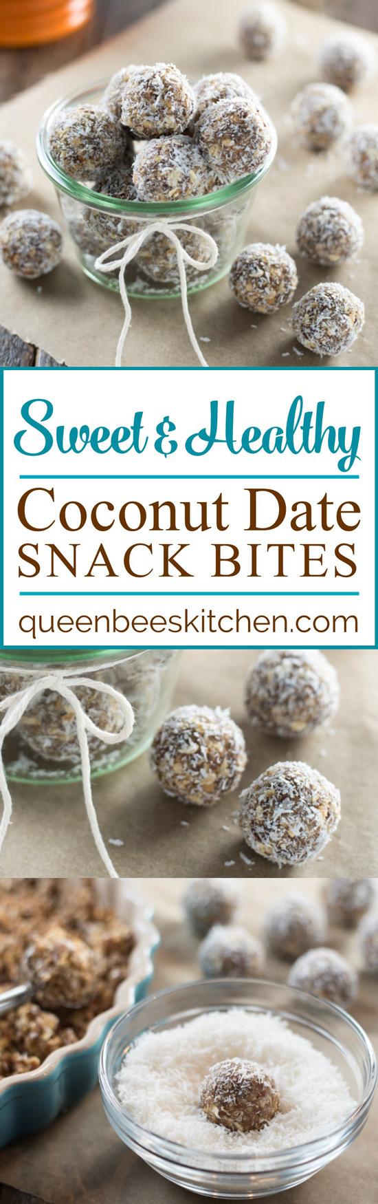 Coconut Date Snack Bites Pinterest