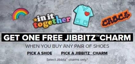 crocs free jibbitz charm woth purchase