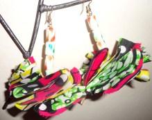 Fabric Flower Earrings