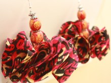Small Pink & Black earring