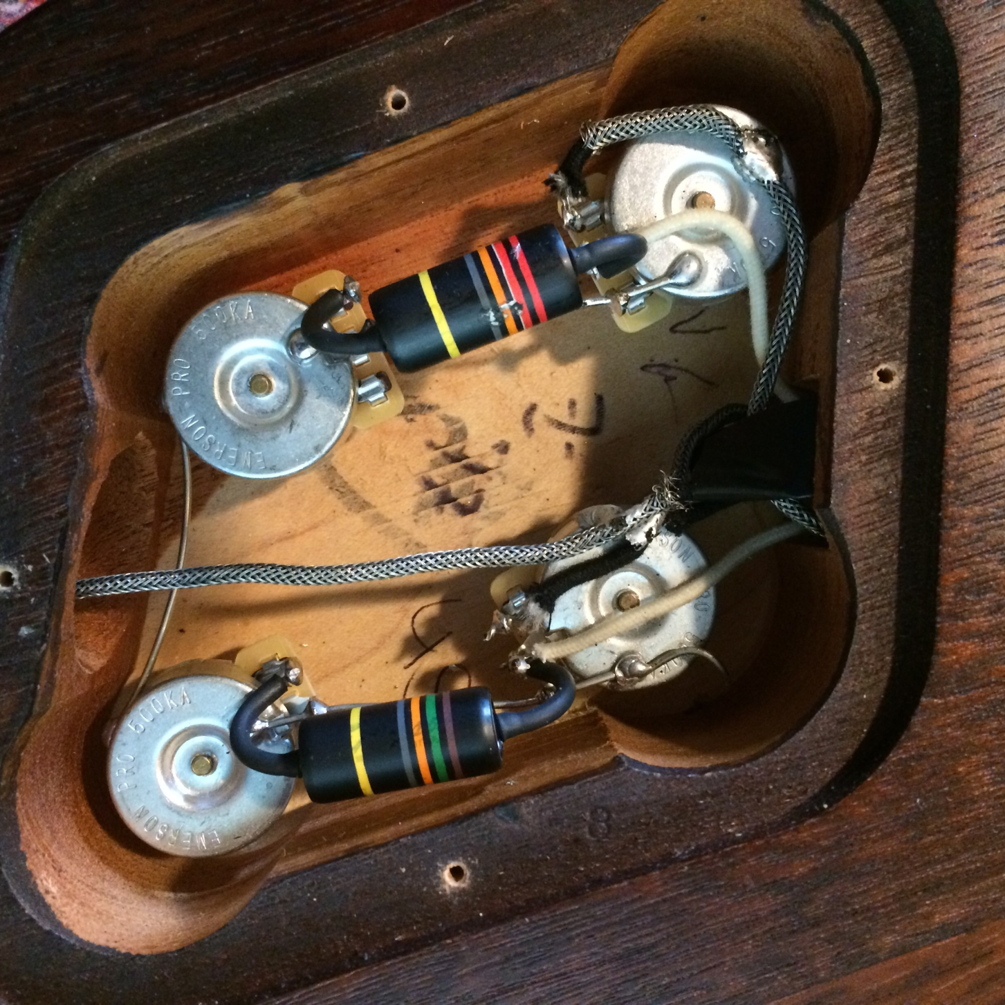hight resolution of next i got a 50 s style les paul wiring harness from emerson custom as i just can t quite get used to the newer plug and play plastic circuitboard