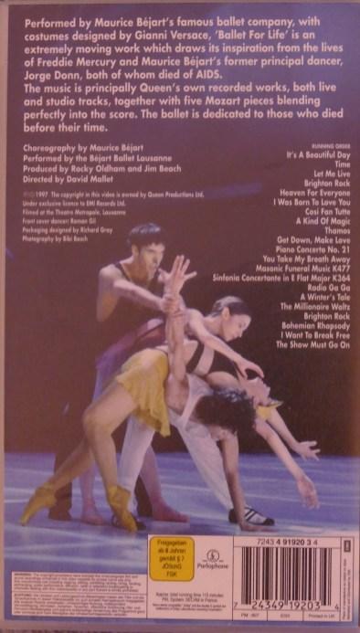 VHS Ballet For Life © Queen / EMI 1997