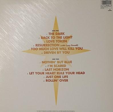 Back To the light album 33 Tours