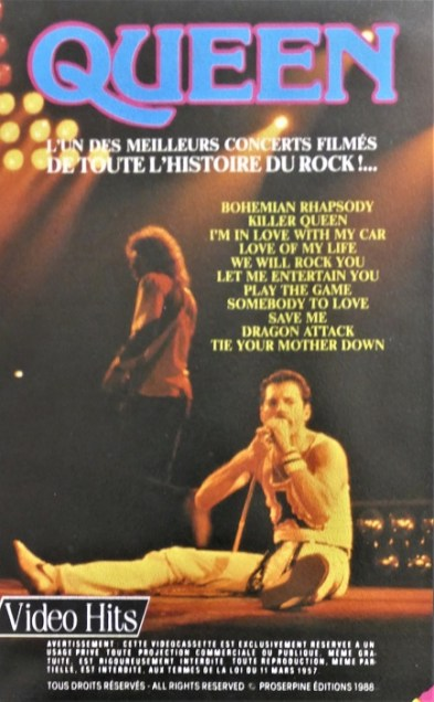 VHS éditée 1988 - France