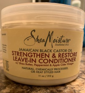 Shea Moisture Jamaican Black Castor Oil leave in conditioner is what I use for the