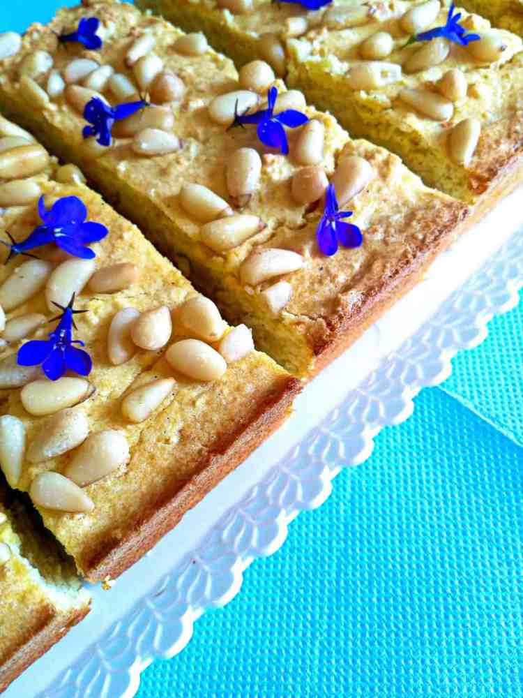 sugar free lemon ricotta sponge cake
