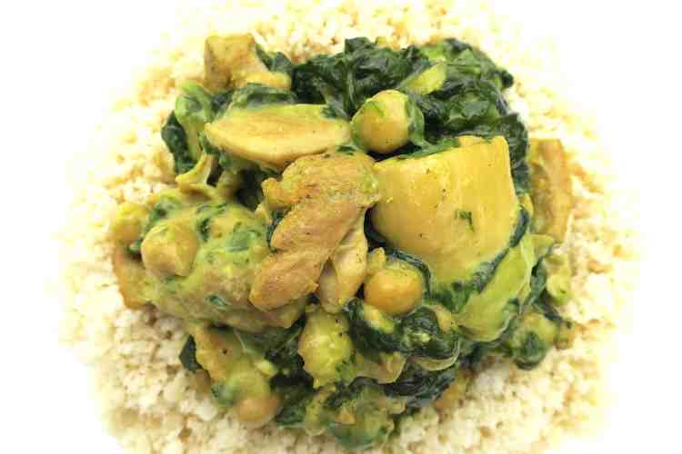 keto low carb green thai chicken curry
