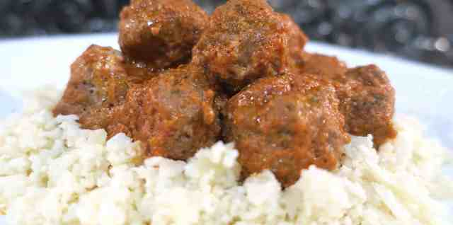 Low Carb Keto Italian Meatballs & Cauliflower Rice