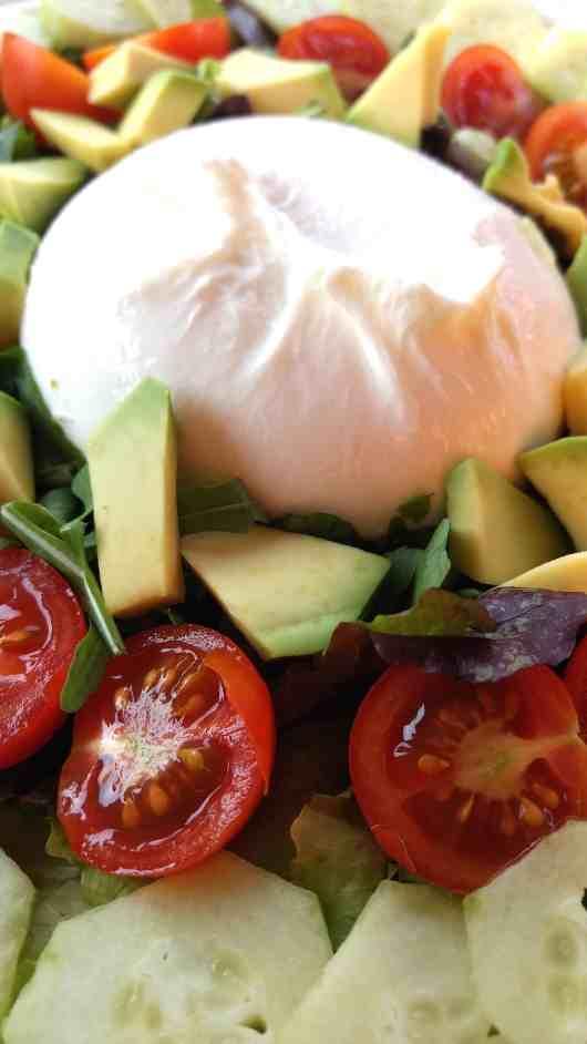 keto low carb italian-style burrata salad