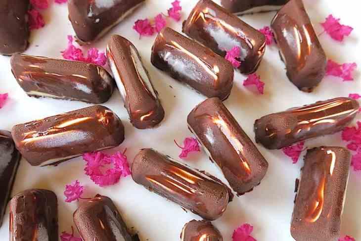 keto sugar free mini snicker ice cream bars