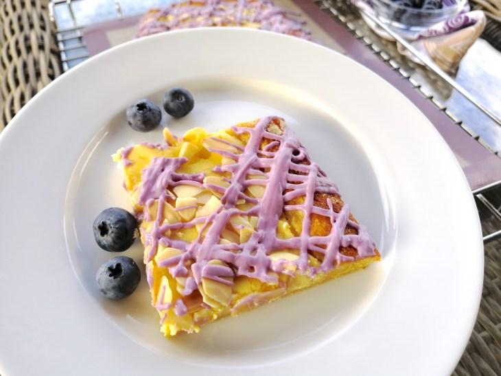 Keto Low Carb Blueberry Vanilla Cheese Danish