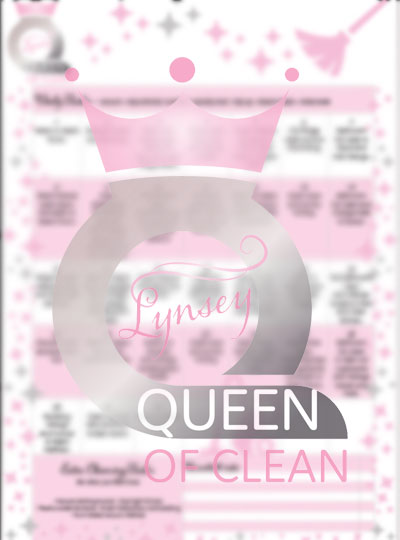 Queen of Clean Monthly Cleaning Calendar