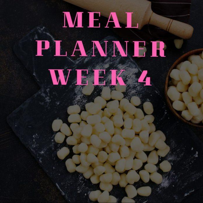 Meal Planning week 4