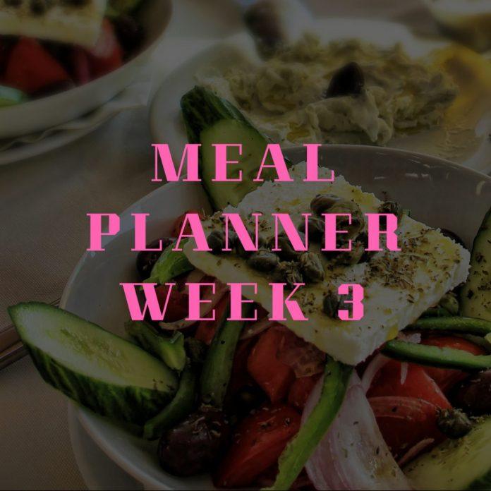Meal Planner Week 3