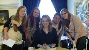 Meeting Sarah J. Maas with Katie, Debbie and Faye!