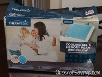 Therapedic Memory Foam Bed Pillow with Hydraluxe Gel ...