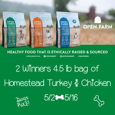 OpenFarm Homestead Turkey & Chicken Dog Food Giveaway