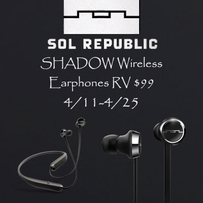 SOL Republic Shadow Wireless Earphones Giveaway