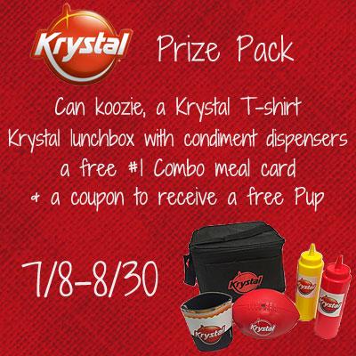Krystal-Hot Dog Month Prize Pack Giveaway