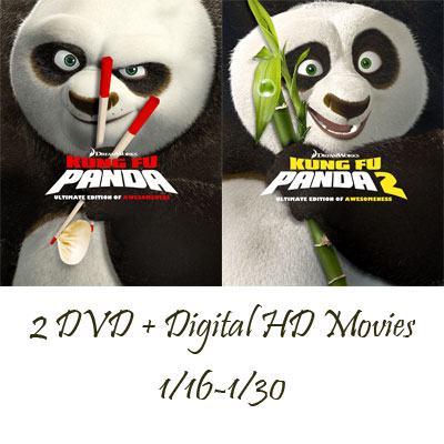 Kung Fu Panda & Kung Fu Panda 2 DVD + Digital HD Movies Giveaway