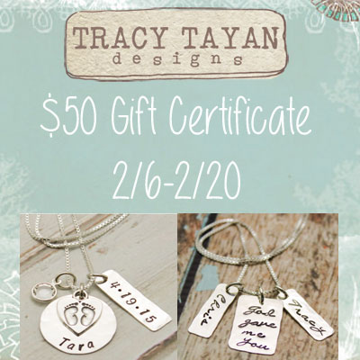 Tracy Tayan Designs $50 Gift Certificate Giveaway