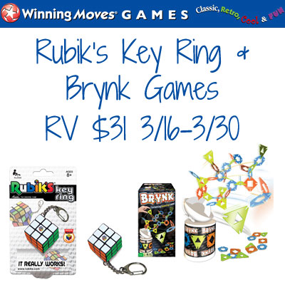 Winning Moves Rubik's Keyring & Brynk Games Giveaway