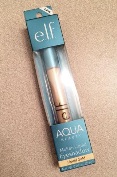 New e.l.f. Aqua Beauty Molten Liquid Eyeshadow Review