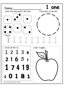 Learning Numbers 1